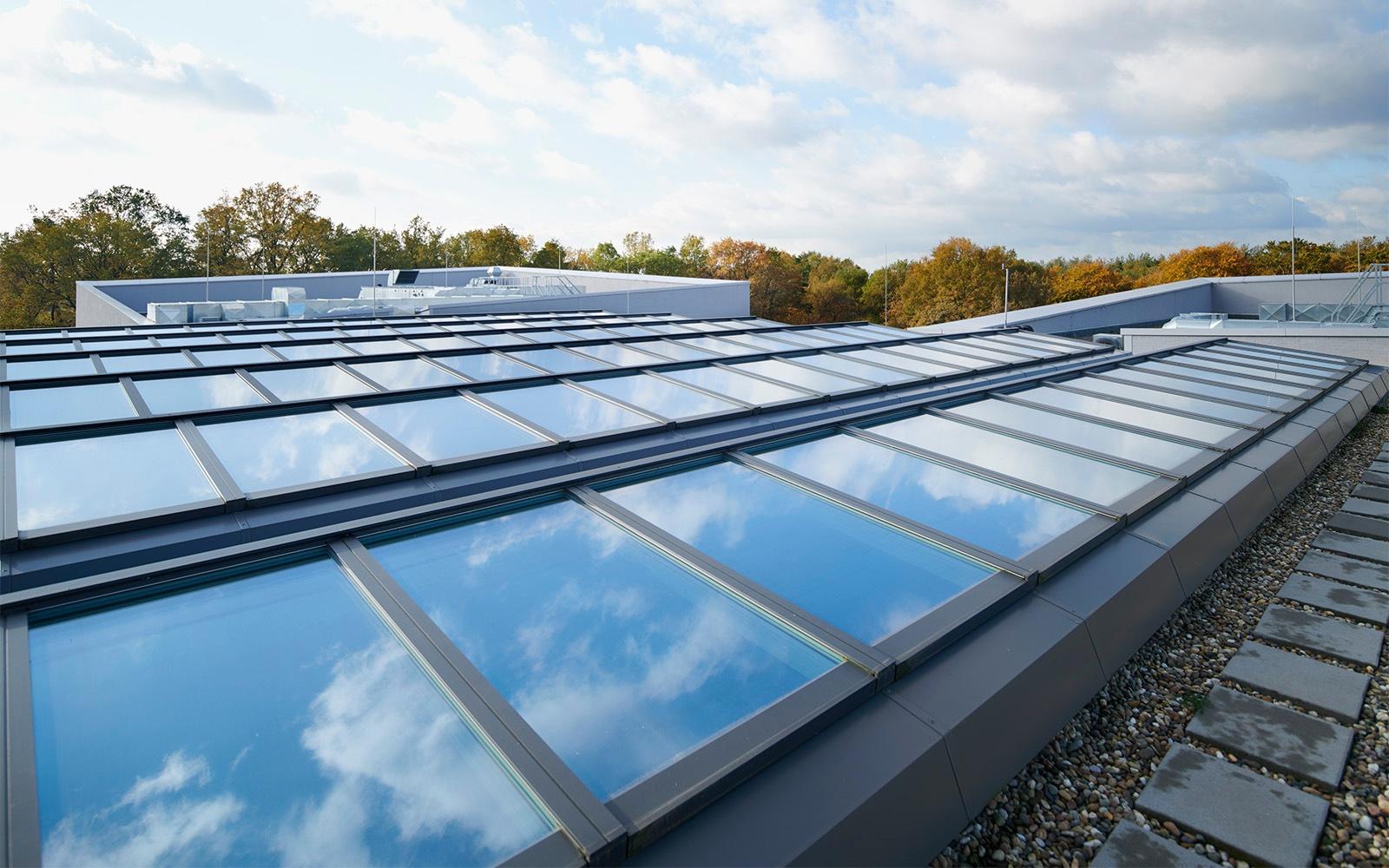 Dachverglasungslösungen der Hessenwaldschule in Deutschland